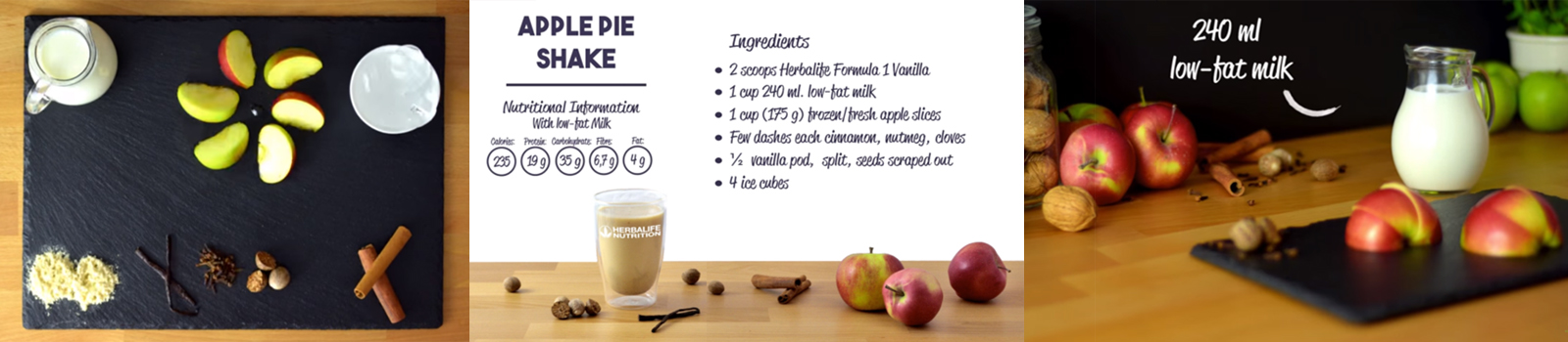 Apple pie shake recipe for Herbalife shake